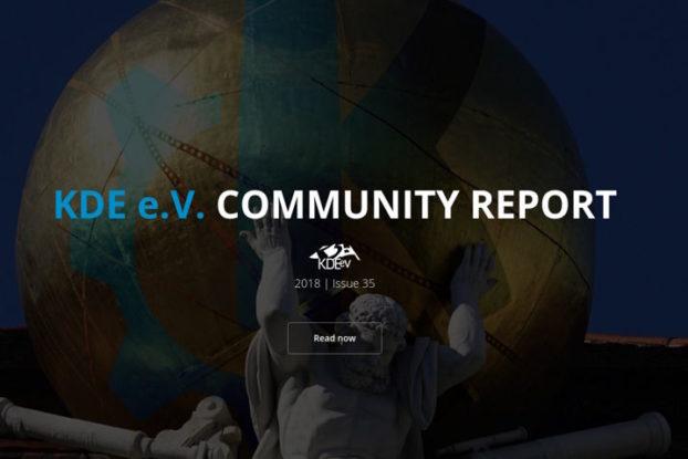 KDE e.V. Informe de la Comunidad 2018