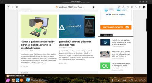navegador web de eXtern OS