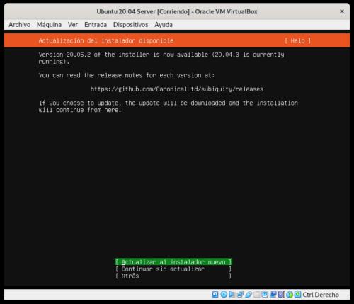 Actualizar el instalador Subiquity en Ubuntu 20.04 Server