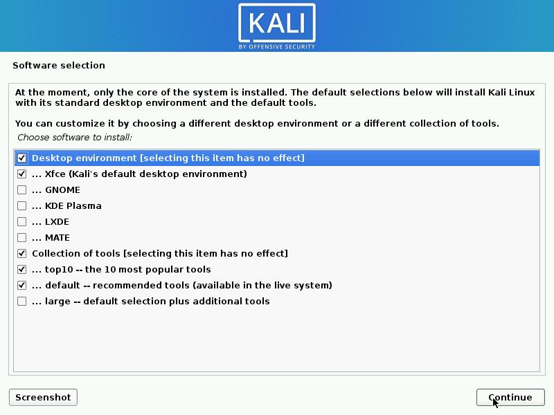 instalador de Kali Linux 2020.2