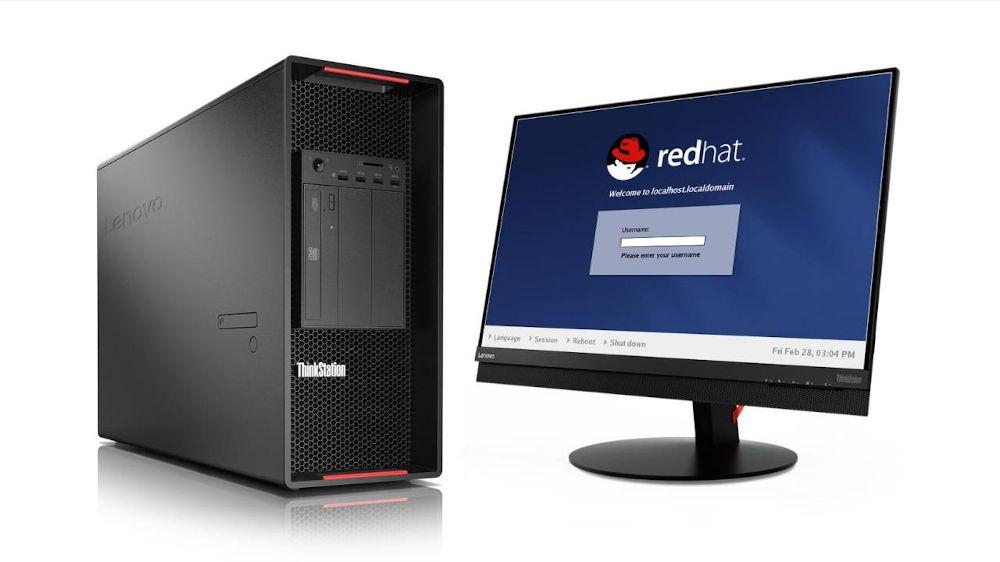 Equipo Lenovo con Red Hat Enterprise Linux