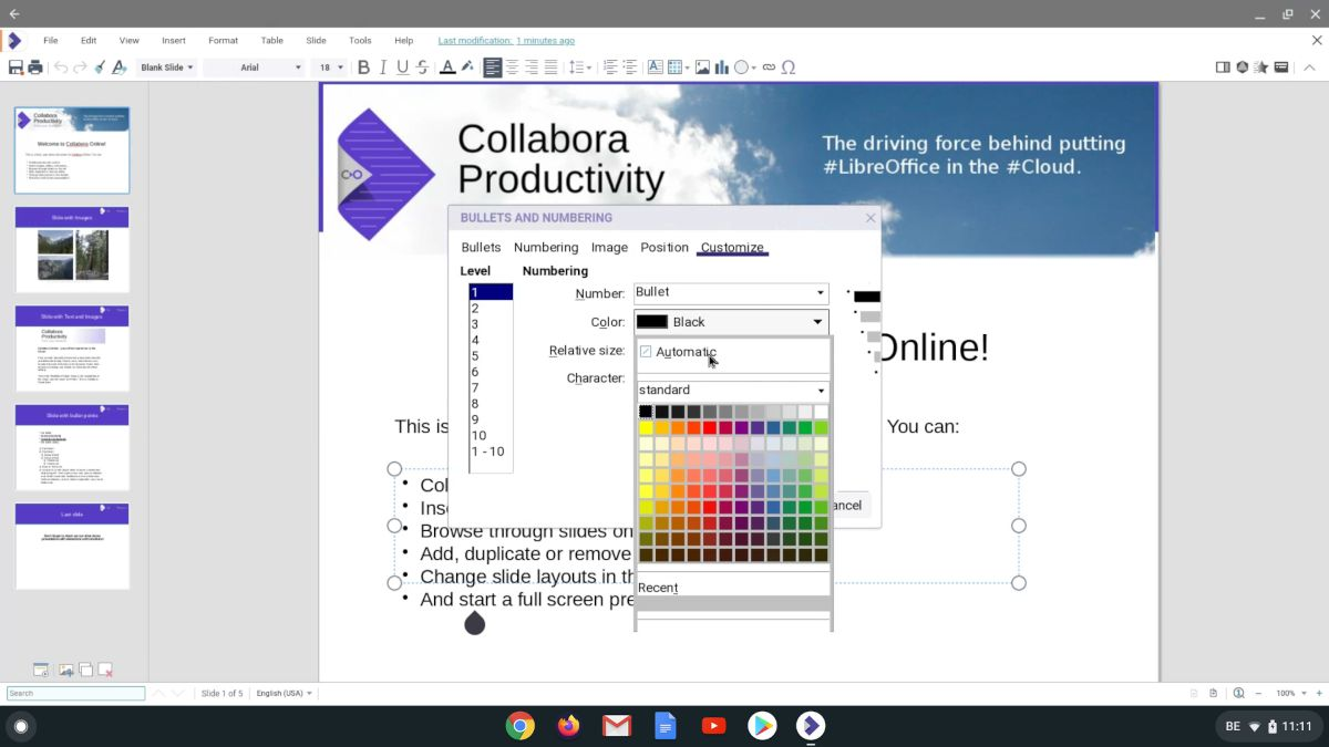 Collabora Office para Chrome OS