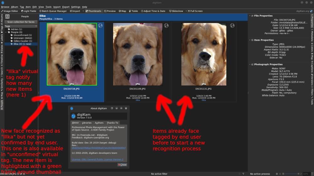 reconocimiento facial con Aprendizaje Profundo en digiKam 7.0