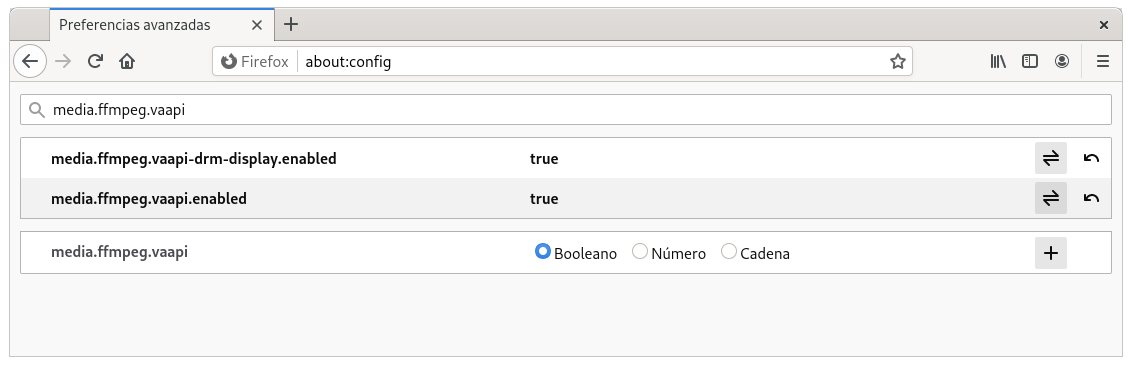 Activar VA-API en Firefox