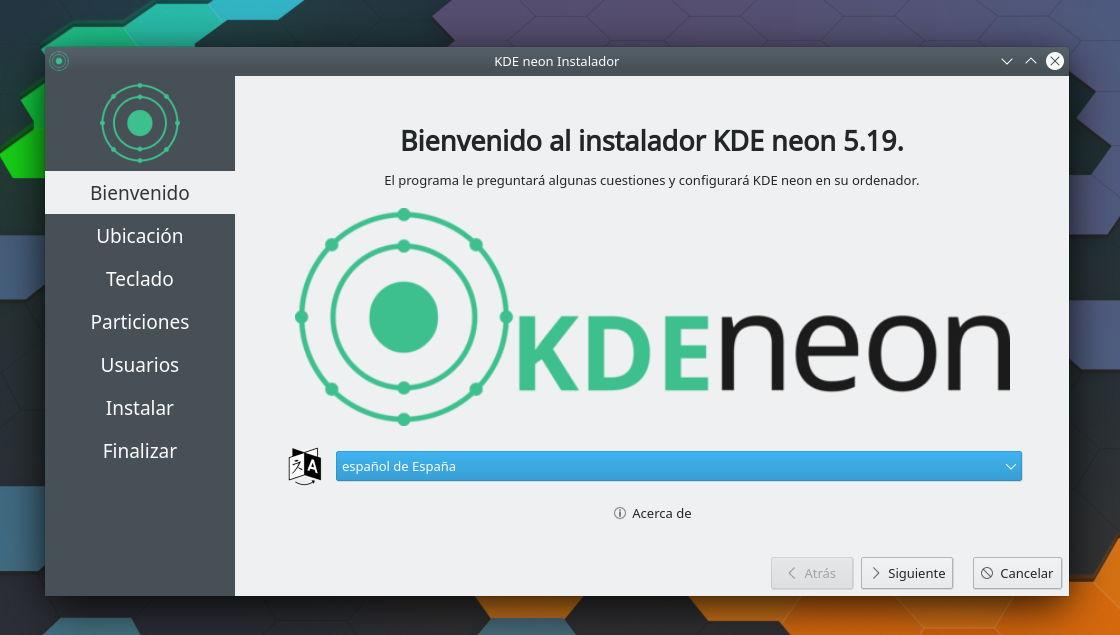 Instalador Calamares en KDE neon