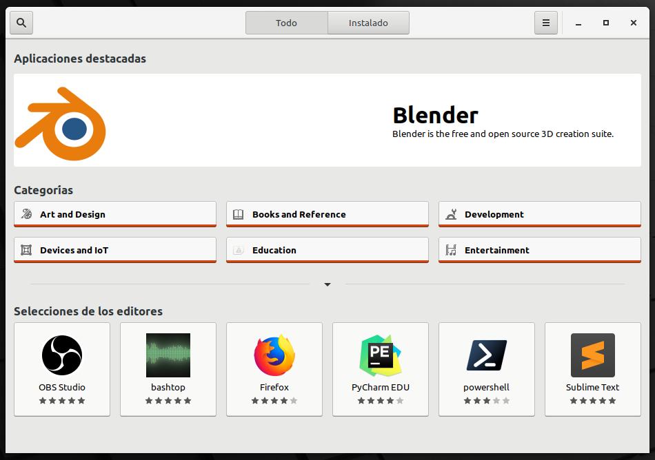 Snap Store en Linux Mint 20