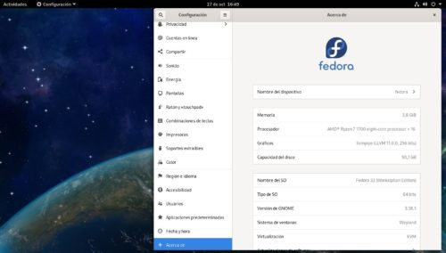 Fedora 33 Workstation