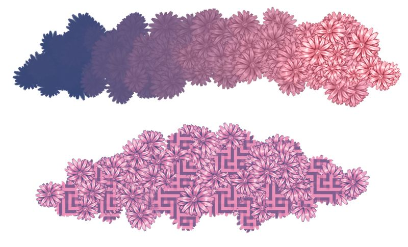 degradados con pinceles de Krita 4.4