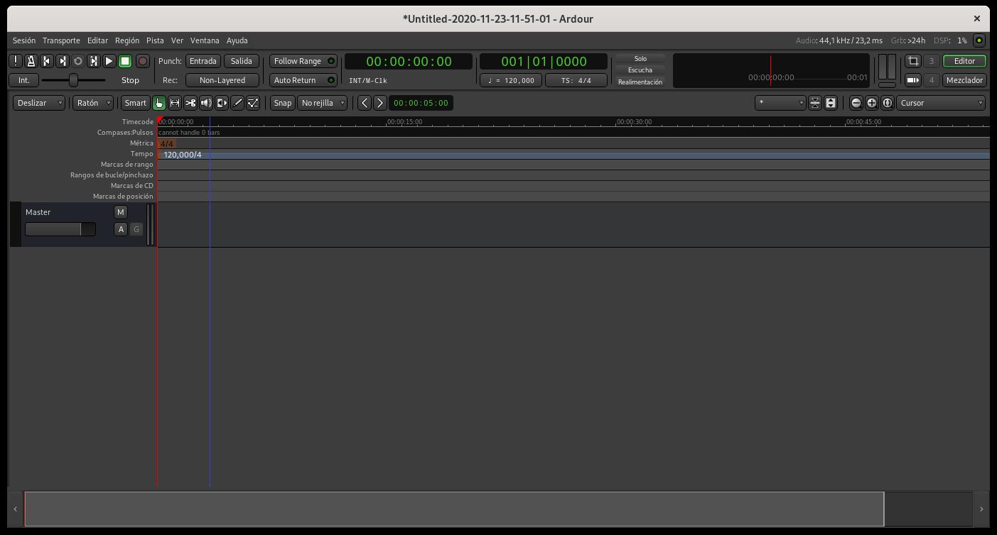 Ardour 6.5 en formato Flatpak