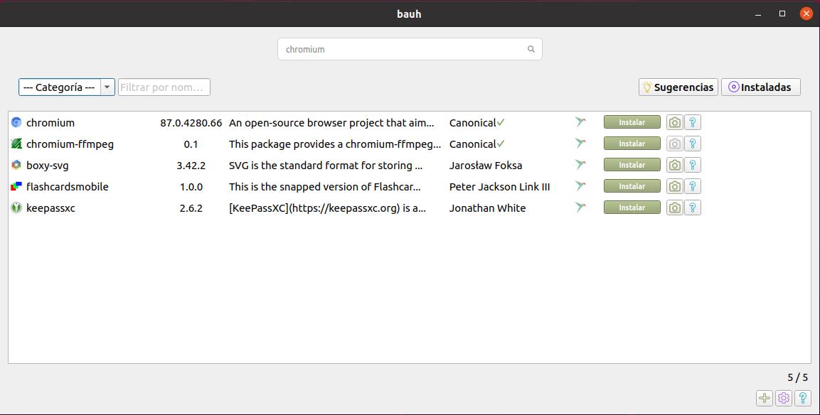 Bauh en Ubuntu 20.04 LTS