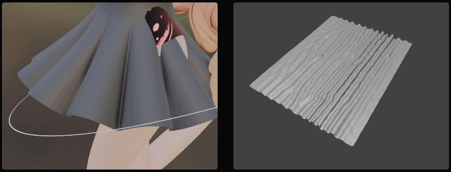 Pliegues en los tejidos en Blender 2.91