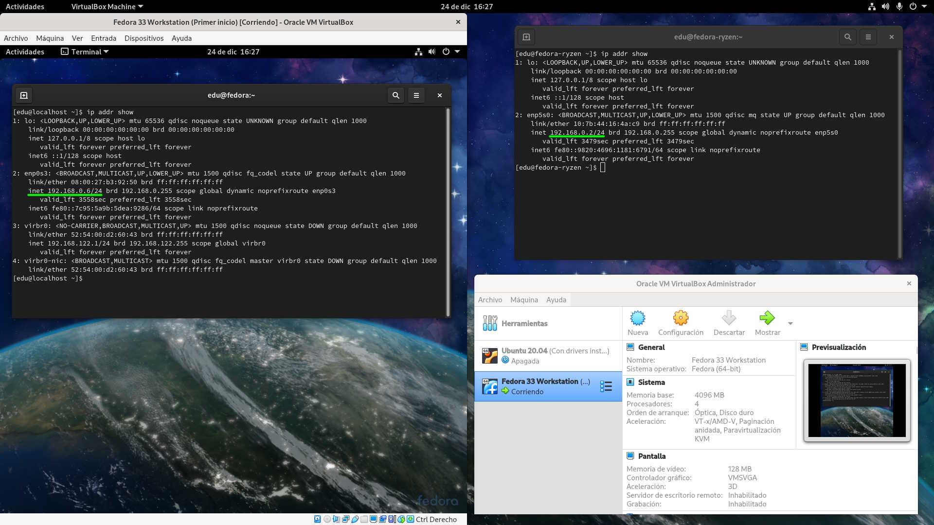 Red puente en VirtualBox 6.1.16