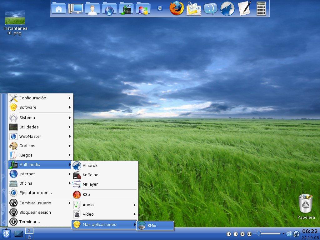 Kubuntu 8.04 con KDE 3.5.10