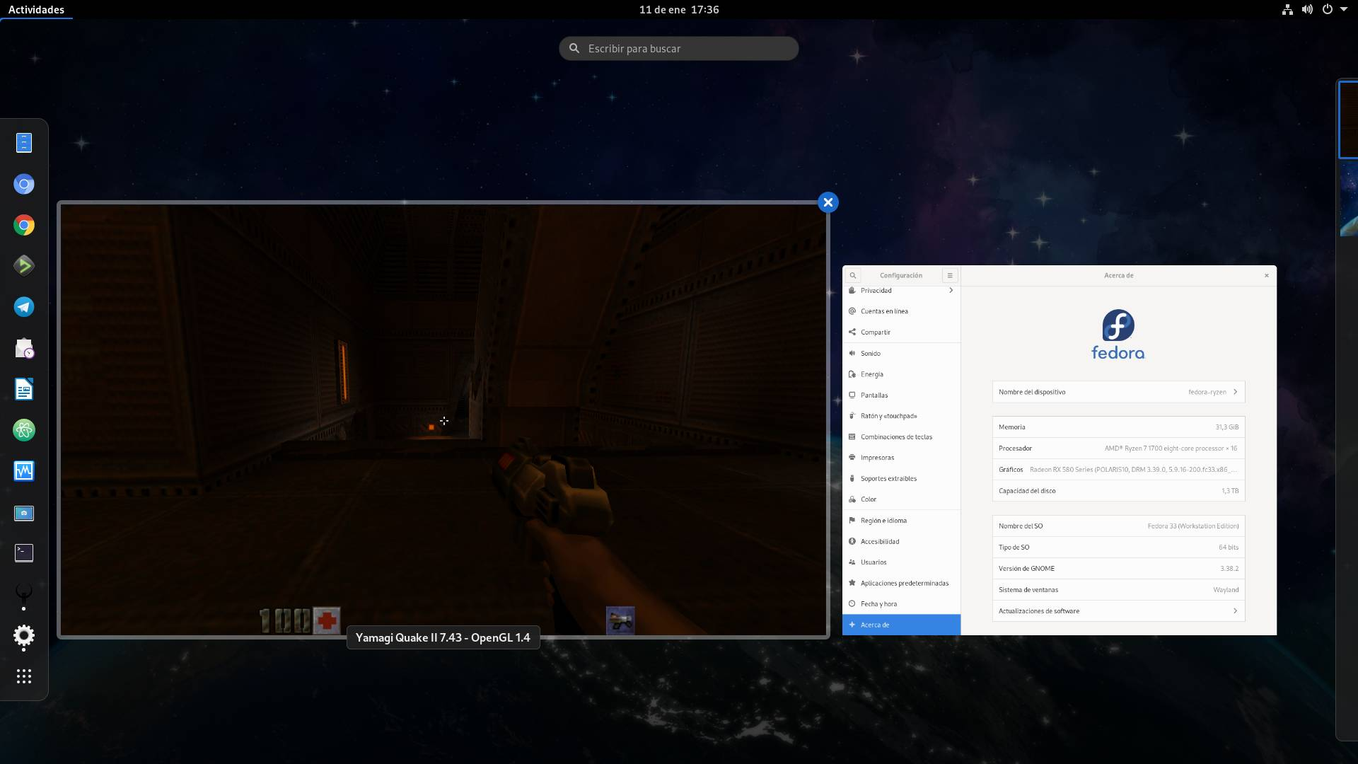 Yamagi Quake 2 en Fedora 33 Workstation