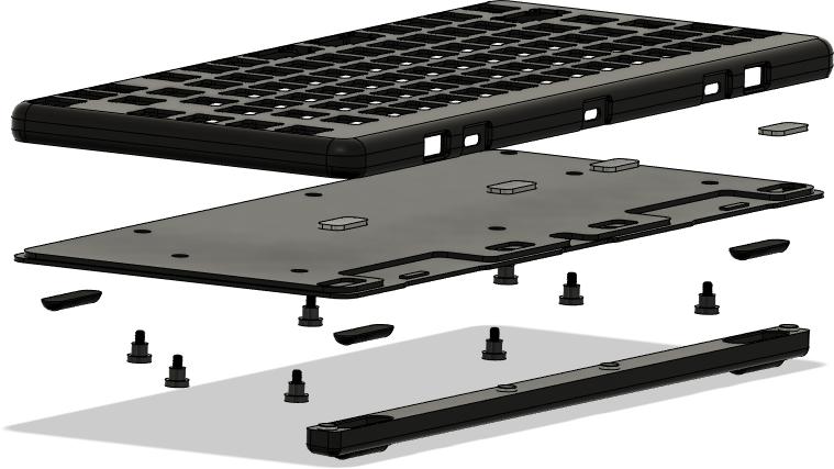 Chasis del teclado Launch de System76