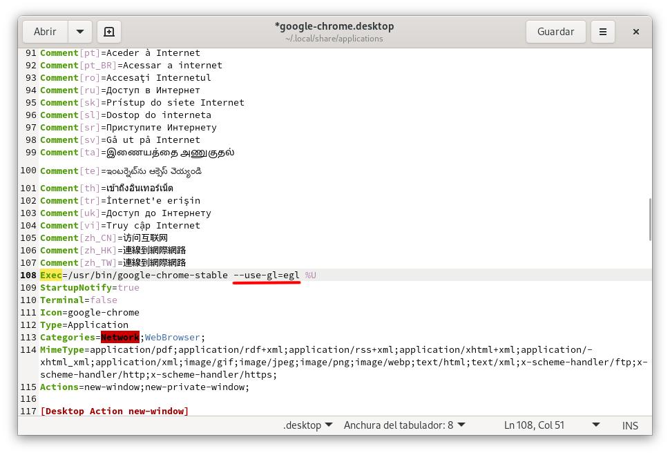 Chrome/Chromium con VA-API activado de forma permanente en Wayland/XWayland
