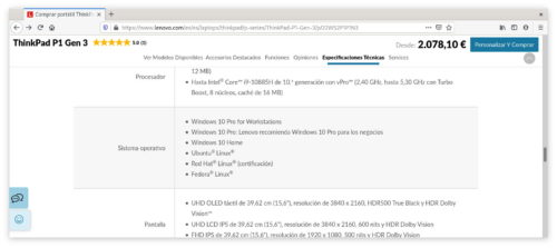 ThinkPad P1 Gen 3 en Lenovo España