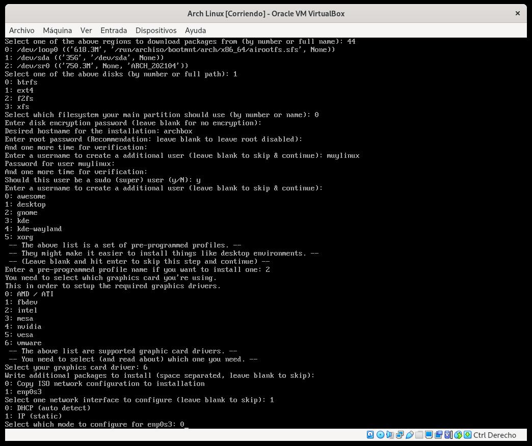 Configurando la red en Arch Linux