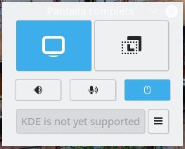 Kooha en KDE Plasma