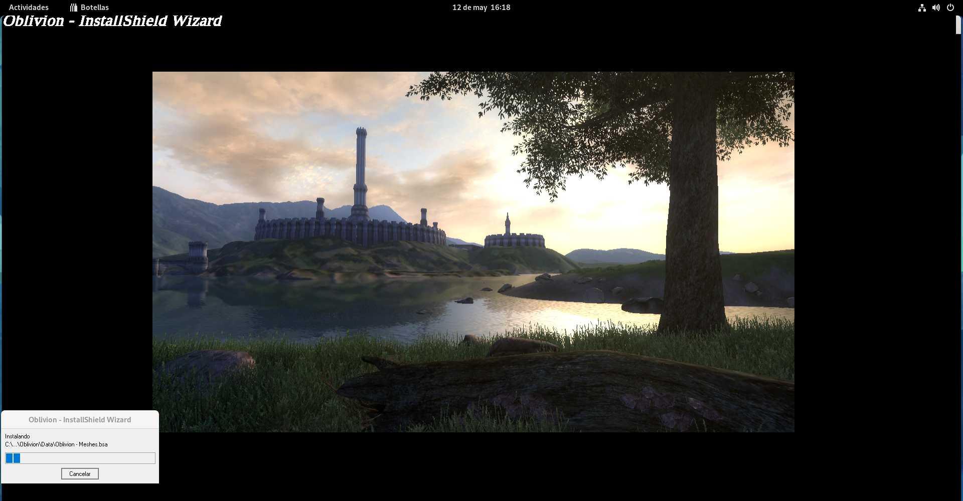 Instalando The Elder Scrolls: Oblivion con Bottles
