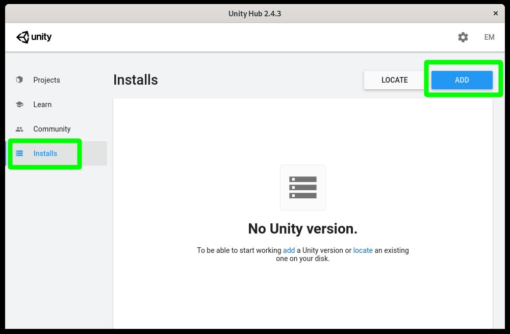 Instalando el editor de Unity en Linux