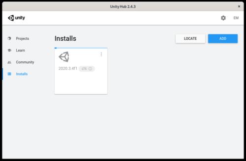 Descargando el editor de Unity para Linux seleccionado