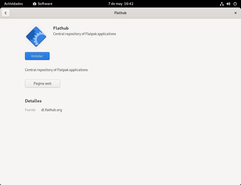 Instalar el repositorio de Flathub en Fedora 34 Workstation