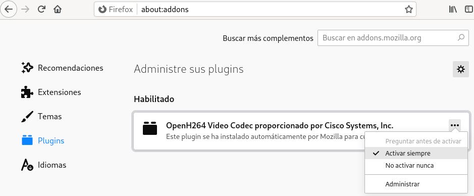 Soporte multimedia Firefox