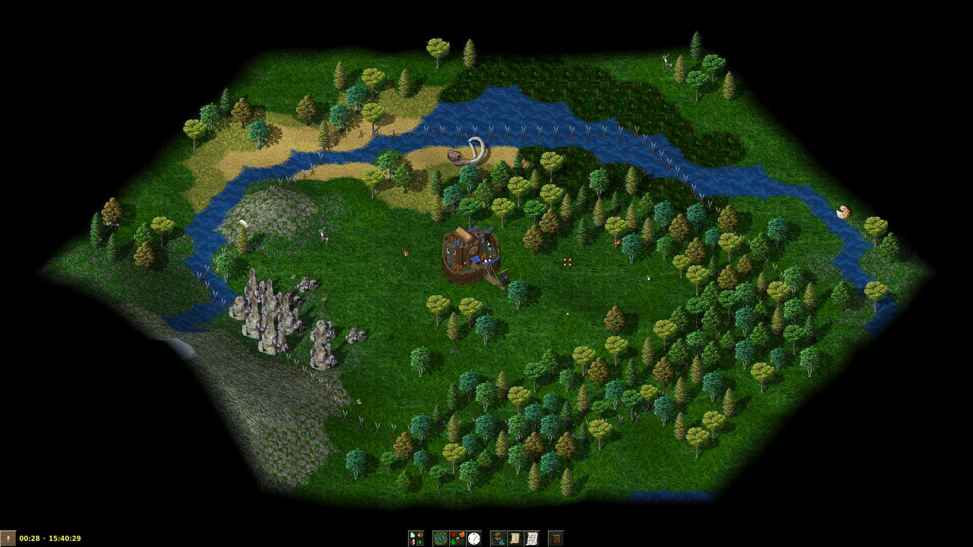 Mapa de un tutorial de Widelands 1.0