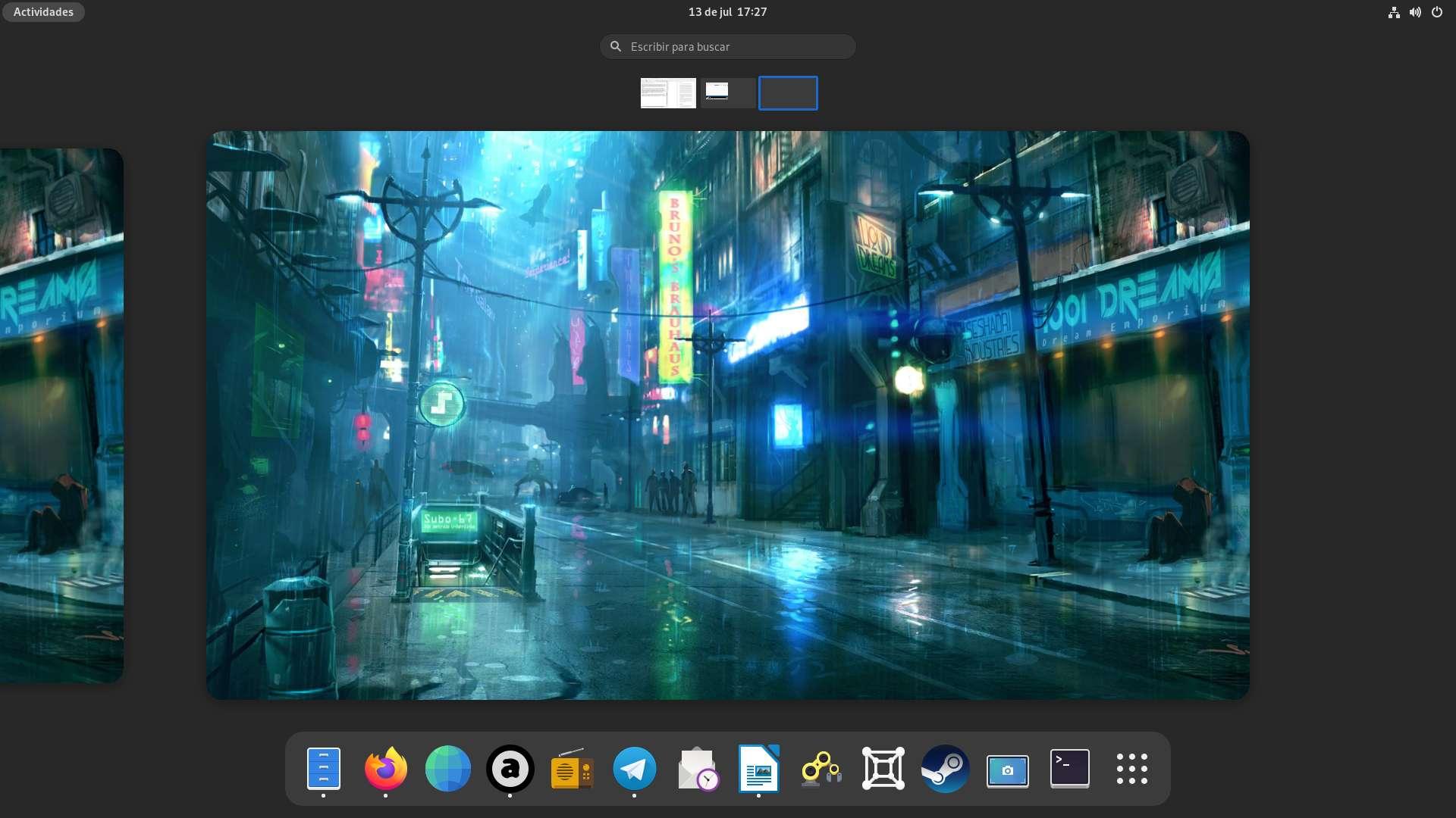 Fedora 34 Workstation con GNOME 40
