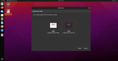 Tema por defecto de Ubuntu 21.10 Impish Indri