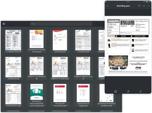 El lector de documentos Shelf en Maui Apps 2