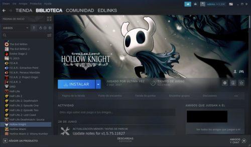 Hollow Knight en Steam