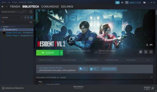 Resident Evil 2 remake en Steam