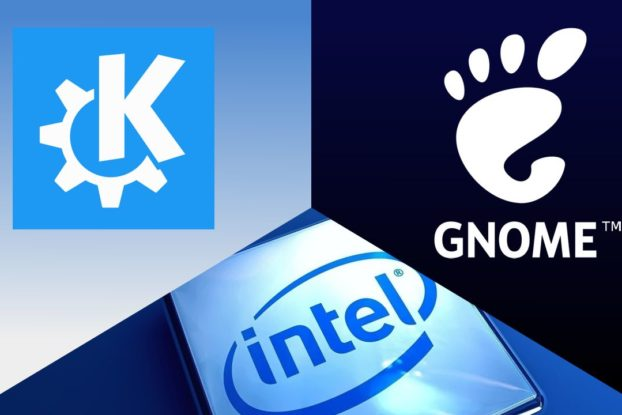 GNOME, KDE Plasma e Intel