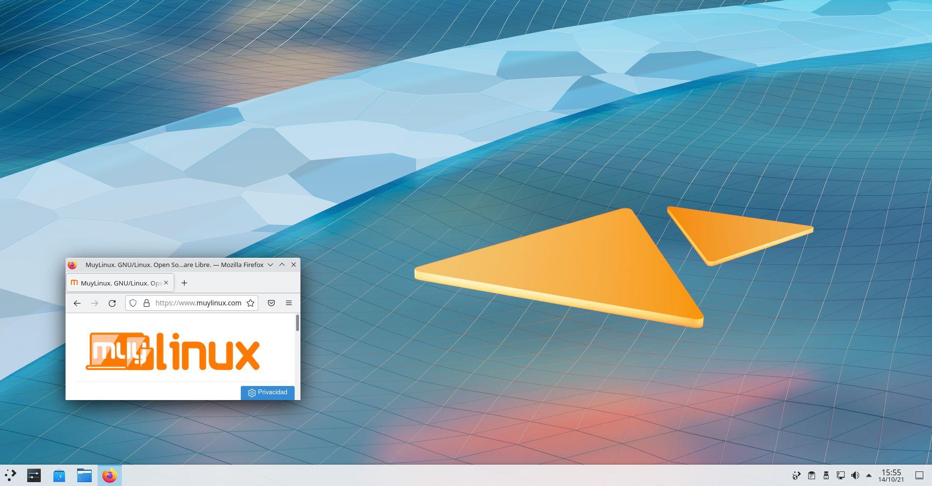 Vista general de KDE Plasma 5.23